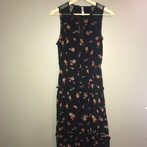 Xhilaration flower print dress asymmetrical hem